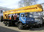 Автовышка 28 метров на базе КАМАЗ