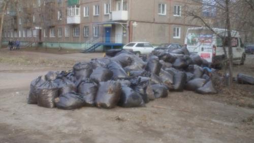 вывоз мусора после субботника