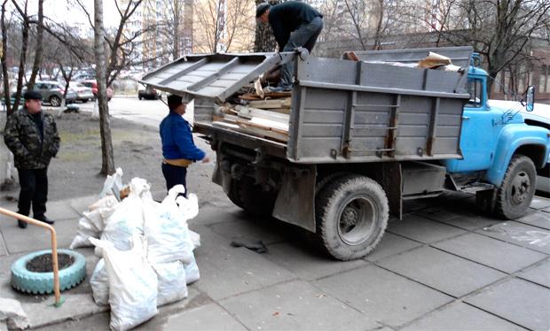Вывезти мусор